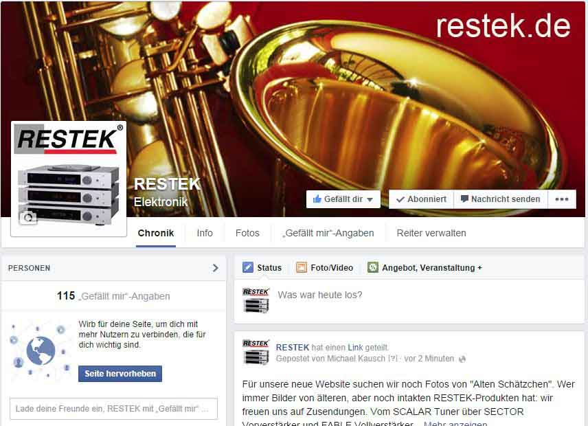 RESTEK Facebook